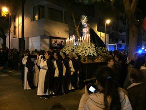 Prozession in Ibiza Stadt am Gründonnerstag