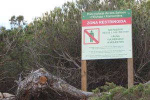 Im Winter ist der Naturpark Des Salines nur Teilweise begehbar.