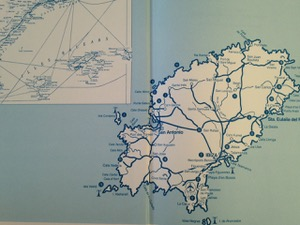 Karte im Buchdeckel von Märchentraum Ibiza und Formentera