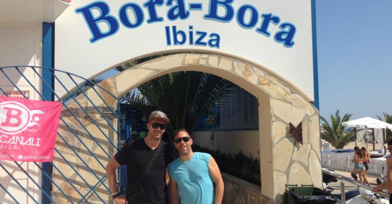 Die Tune Brothers vor ihrem Gig am Bora Bora Beach Club