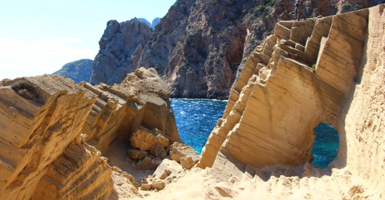 Der block von Atlantis aufs Meer
