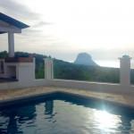 Eines der Häusser mit Blick auf Es Vedra