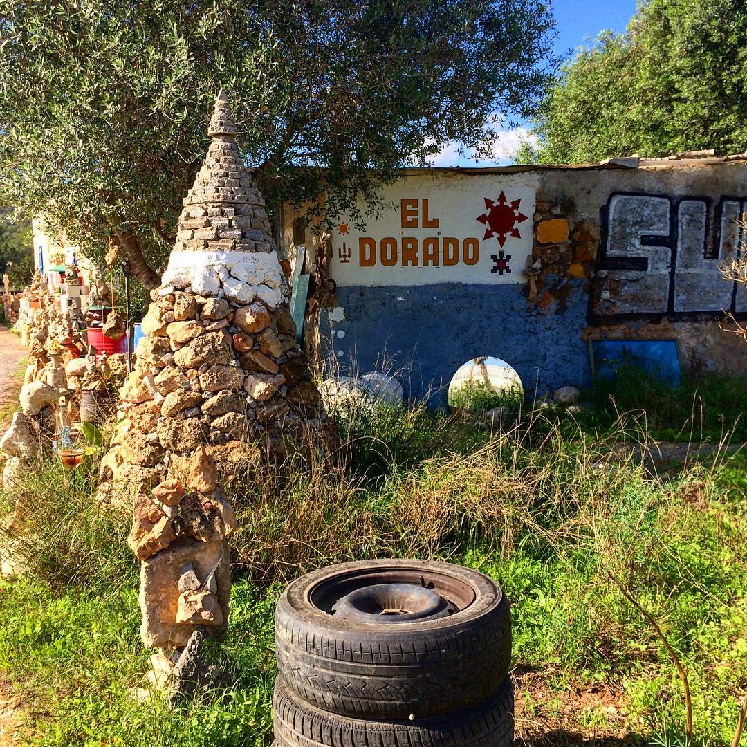 A place full of creativity, art and good spirit 🎨💈 #eldorado #eldoradoibiza #creative #art #colours #freemind #spirit #ibiza2016 #ibz16 #creativity #spain #hippie #spirit #igersibiza #ibizadiary #instaart #igersspain #baleares #travel, Parque de Bomberos de Ibiza