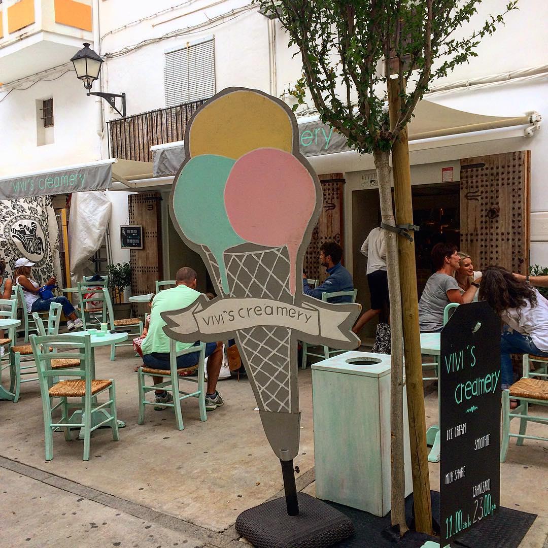 The sun is shining, so it's time for some delicious icecream  #icecream #gelato #ibiza #sun #summer #eivissa #ibiza2017 #colourful #sweet #instaspain #like4like #dessert #instafood #ibz #igersbaleares #viviscreamery #ibizadiary, Vivi's Creamery Ibiza