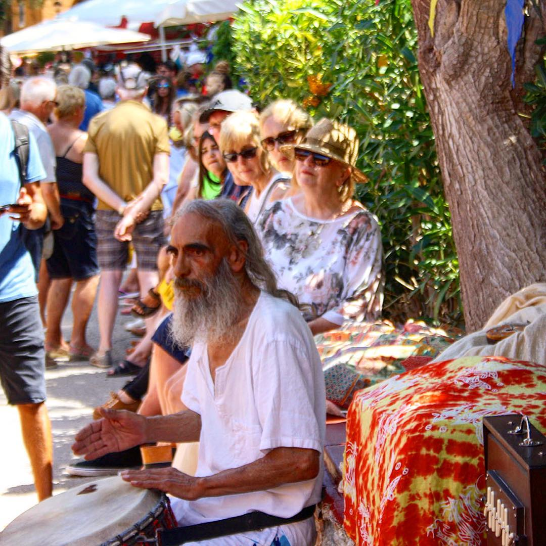 Wednesday is market day in Punta Arabi 🌼 #market #puntaarabi #escanar #ibiza #mercadillo #hippie #ibiza2017 #hippy #shopping #goodday #wednesday #picoftheday #music #drums #colourful #igersibiza #loveibiza #ibizadiary, Hippie Market, Es Canar, Ibiza