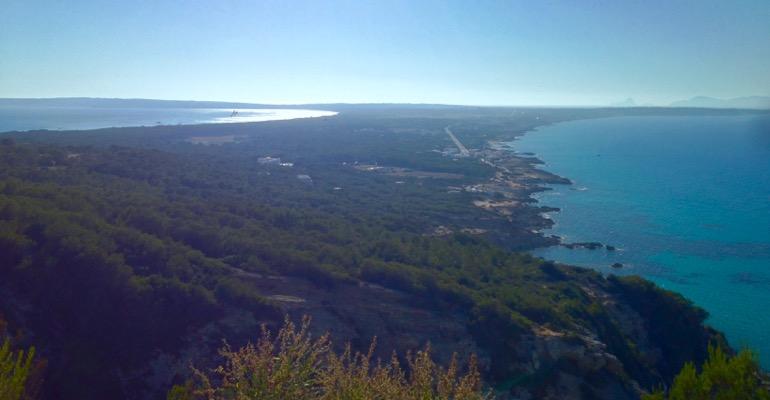 Blick vom Römerweg auf Formentera