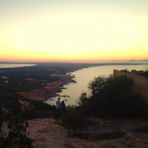 Blick über Formentera in der Abendsonne