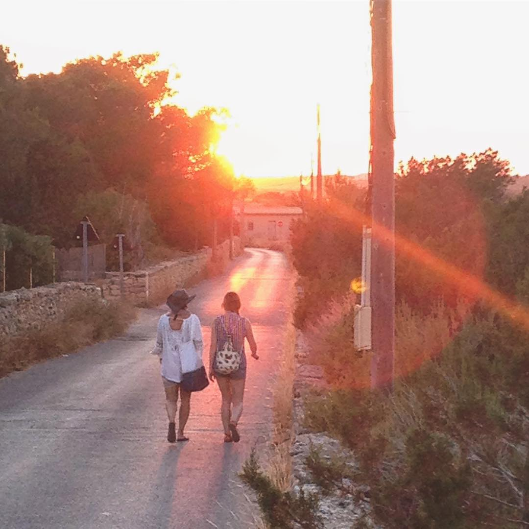 🌅#sunsetwalk from #santfrancesc to #lasavinaformentera #sunset #sunsetformentera #formentera2018 #warmred #friendship #walktogether #formenteralovers #ibizayformentera #ibizadiary #walkinghome #whenthesungoesdown #formentera #sanfrancescjavier, San Francisco Javier, Islas Baleares, Spain