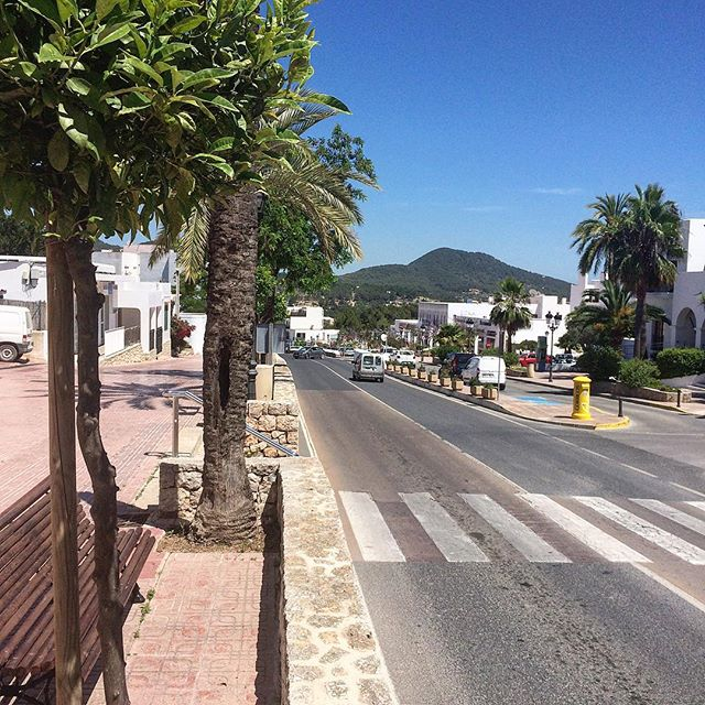 Good morning Sant Josep 🤗☮️ #goodmorning #buenosdias #ibiza #santjosep #ibiza2018 #morningview #hello #instagood #instatravel #road #sky #palmtrees #ibizadiary, Sant Josep de sa Talaia