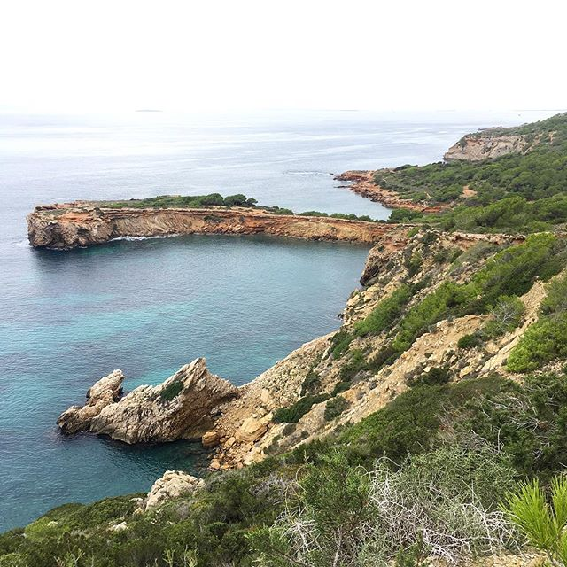 There's no risk of getting sunburned, when the sky is cloudy like today 😋 Good hiking conditions at the moment on Ibiza! #instahike #ibiza #nature #optimist #fall #instanature @ibizacliffdiving @hikingculture @hikingtheglobe #hikingadventures #green #seaview #baleares #hikingtheglobe #ibizalovers #ibizaisland #ibizadiary #hikingibiza, Platja S'Estanyol
