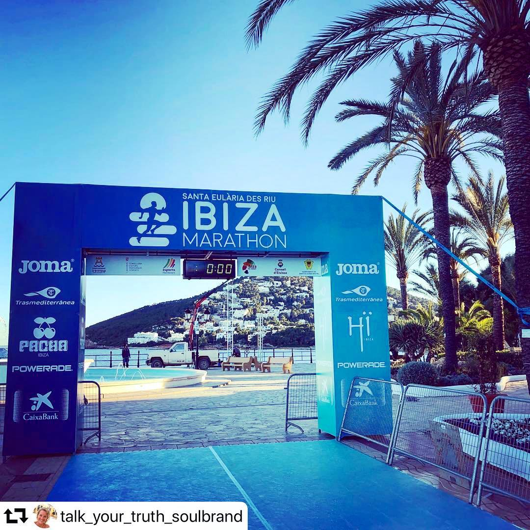 Congrats to all the runners, who made it last weekend at @ibizamarathon  and thanks to @talk_your_truth_soulbrand for the nice picture! #marathon #instarun #instasport #ibizasport #sportspain #runners #runnerslife #april #instaspain #ibizamarathon #ibizadiary, Santa Eularia, Ibiza